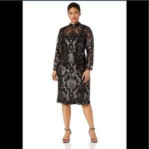 RACHEL Rachel Roy Nadia Dress,silver/black,NWT